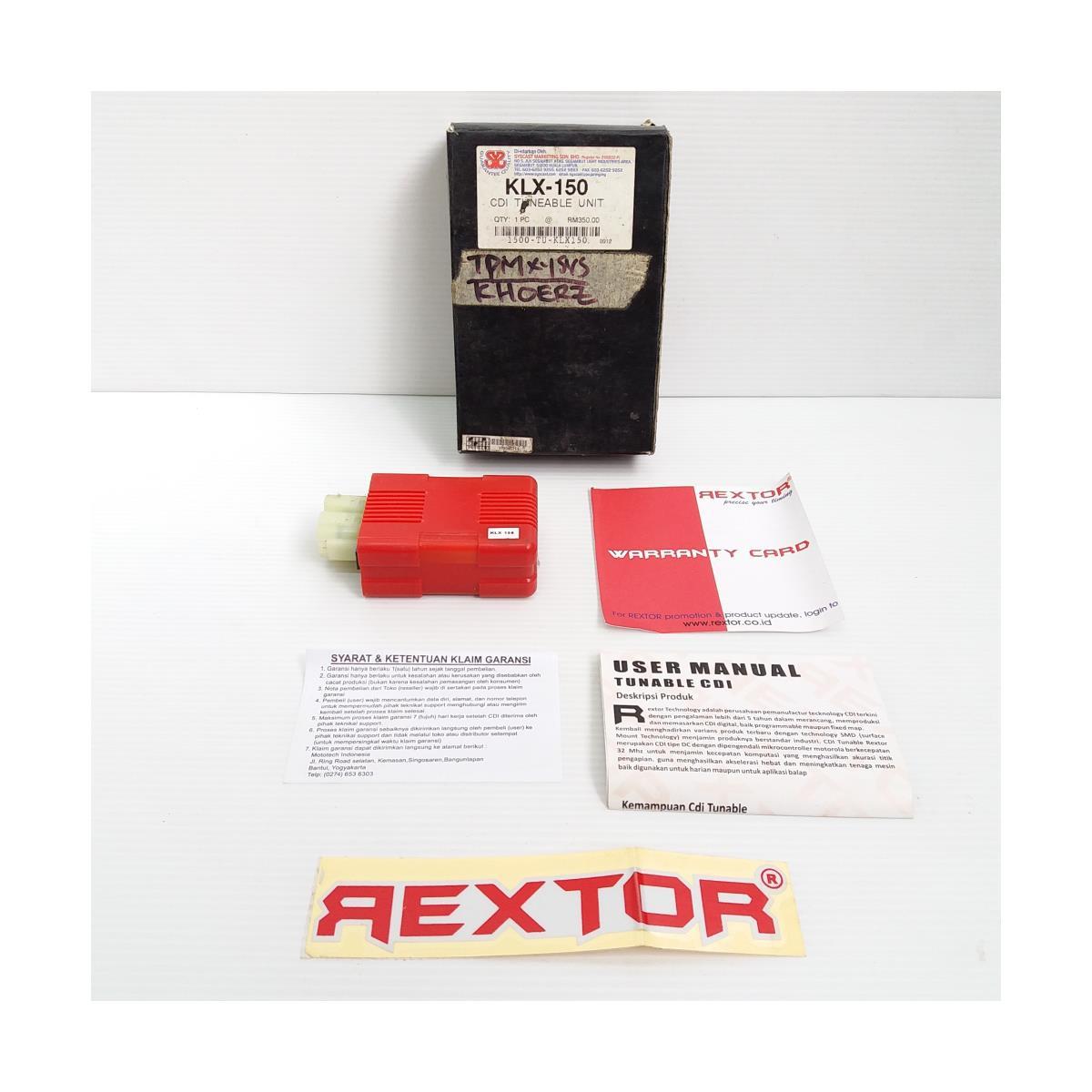 CDI UNIT (TUNEABLE) KLX150 (REXTOR)