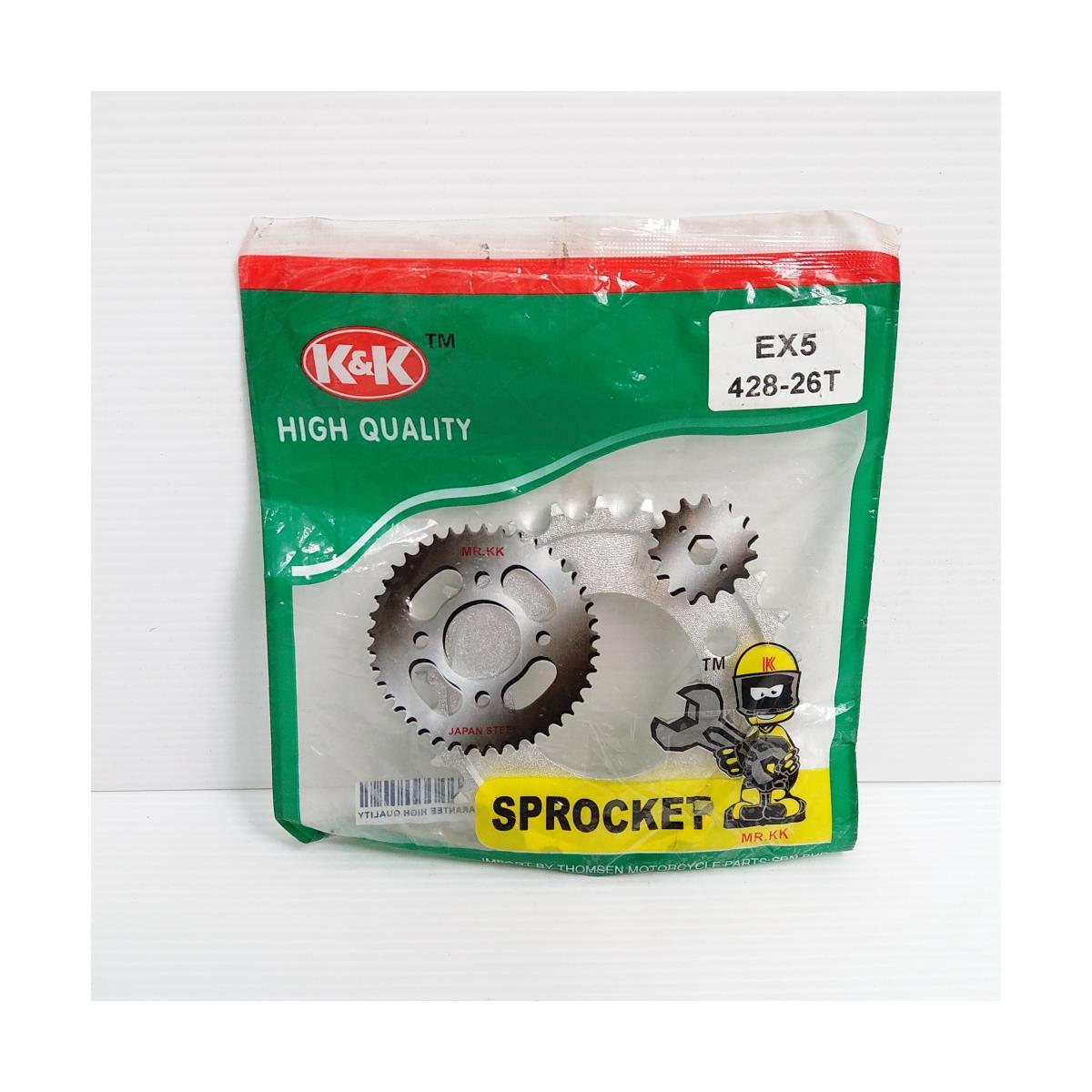 REAR SPROCKET EX5 26T (428)(K&K)
