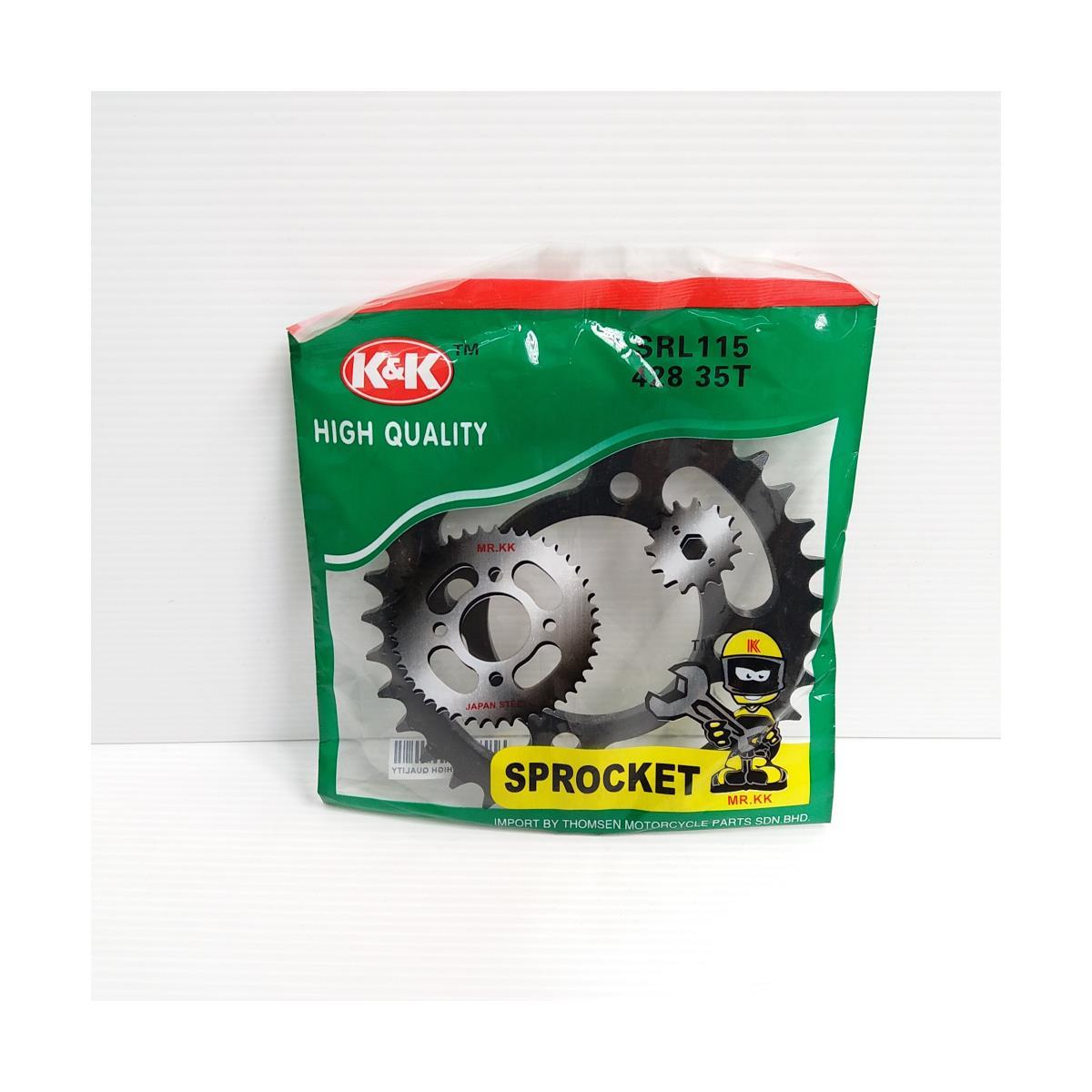REAR SPROCKET SRL115 35T (428)(K&K)