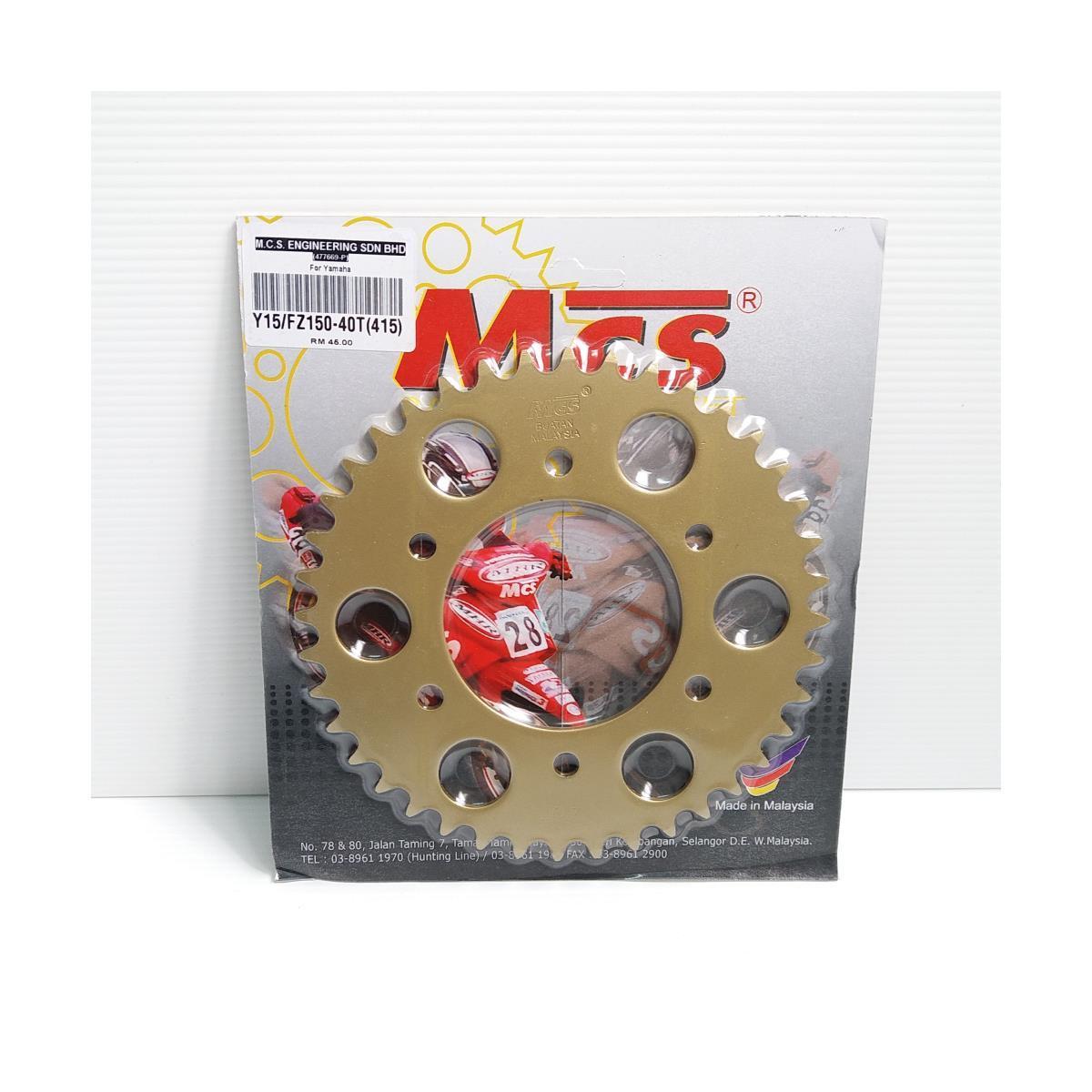 REAR SPROCKET (RACING) Y15/FZ150 40T (415)(MCS)